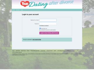 afterdivorce.yoursfriendshipandromance.co.uk screenshot