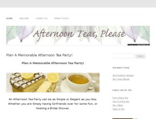 afternoon-teas-please.com screenshot