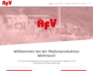 afv.de screenshot