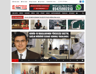 afyonyerelbasin.com screenshot