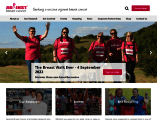 againstbreastcancer.org.uk screenshot