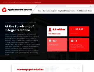 agakhanhospitals.org screenshot