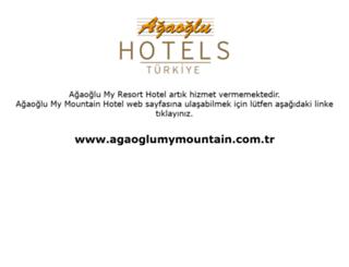 agaoglumyresort.com.tr screenshot