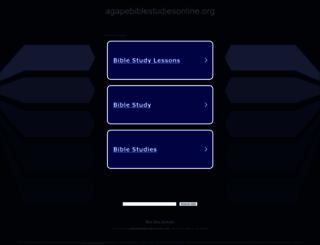 agapebiblestudiesonline.org screenshot