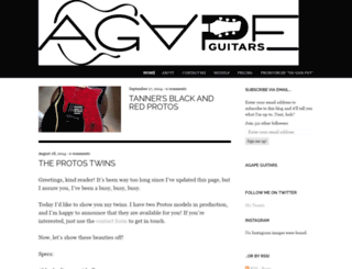 agapeguitars.wordpress.com screenshot