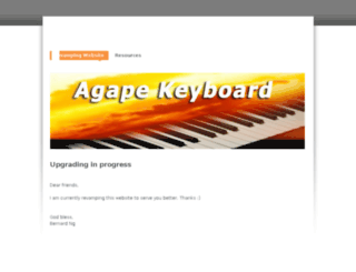 agapekeyboard.com screenshot