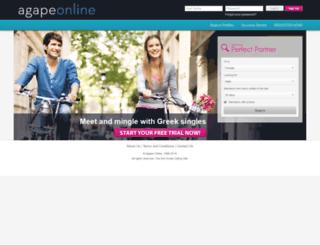 agapeonline.com screenshot