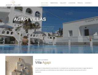 agapivillas.gr screenshot