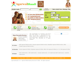 agarwalshaadi.co.in screenshot