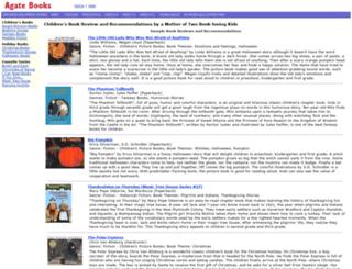 agatebooks.com screenshot