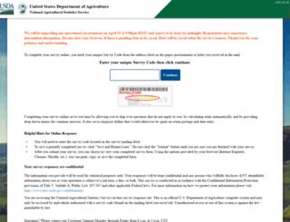 agcounts.usda.gov screenshot