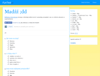 agda-madzik.funtest.pl screenshot
