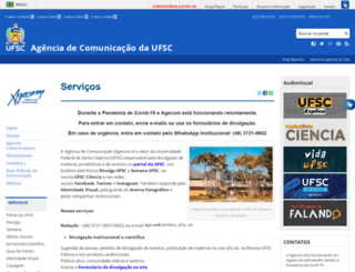 agecom.ufsc.br screenshot