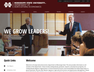 agecon.msstate.edu screenshot