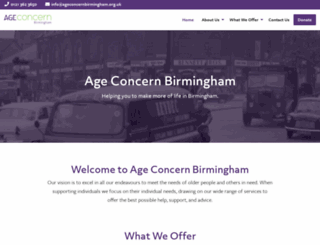 ageconcernbirmingham.org.uk screenshot