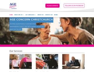 ageconcernchristchurch.org.uk screenshot