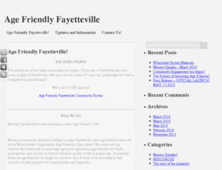 agefriendlyfayetteville.uark.edu screenshot