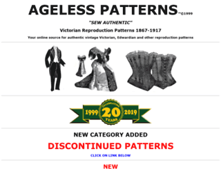 agelesspatterns.com screenshot