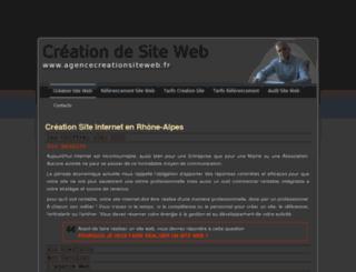 agencecreationsiteweb.fr screenshot