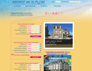agencedelaplage.fr screenshot