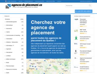 agences-de-placement.ca screenshot