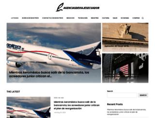 agenciasdeviajesecuador.com screenshot
