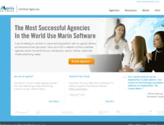 agencies.marinsoftware.com screenshot