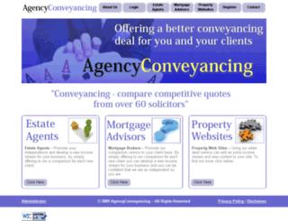 agencyconveyancing.co.uk screenshot