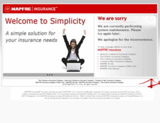 agencyportal.commerceinsurance.com screenshot