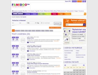 agenda.famidoo.be screenshot