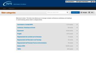 agenda.infn.it screenshot