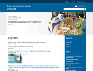 agenda.ipb.ac.id screenshot