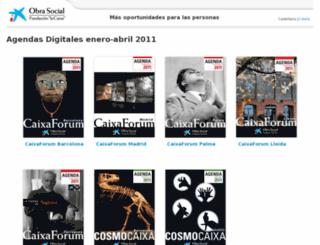 agendacentrosfundacionlacaixa.com screenshot