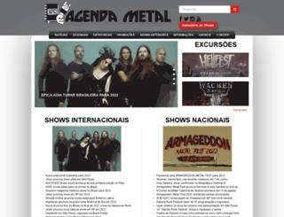 agendametal.com.br screenshot