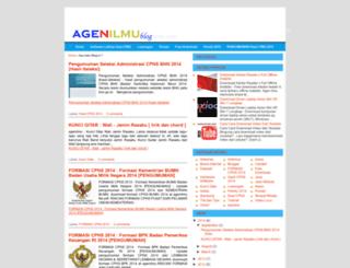 agenilmu.blogspot.com screenshot