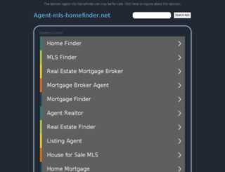 agent-mls-homefinder.net screenshot