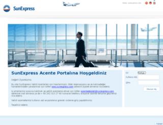 agent.sunexpress.com screenshot