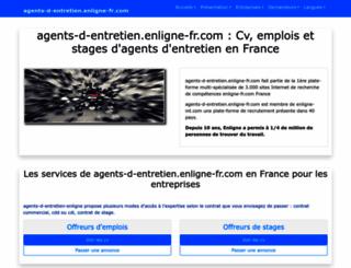 agents-d-entretien.enligne-fr.com screenshot