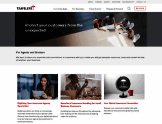 agents.travelers.com screenshot