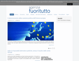 agenziafuoritutto.com screenshot