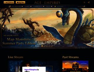 ageofempires3.com screenshot
