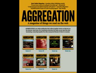 aggregationmagazine.com screenshot