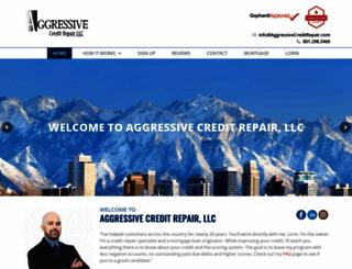 aggressivecreditrepair.com screenshot