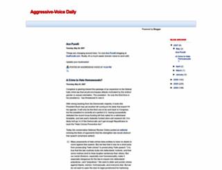 aggressivevoicedaily.blogspot.com screenshot