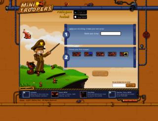agha.minitroopers.com screenshot