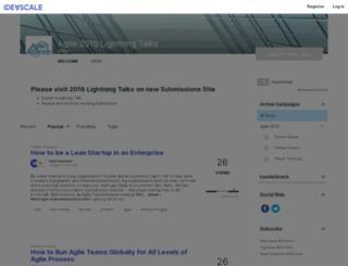 agile-lightning.ideascale.com screenshot