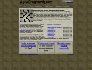 agilecrosswords.com screenshot