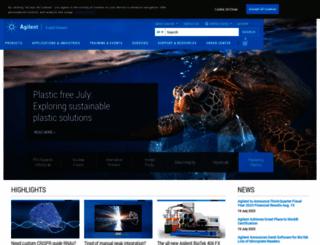 agilent.com.cn screenshot