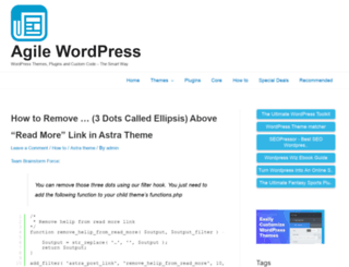 agilewp.com screenshot