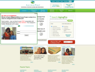 agingpro.com screenshot